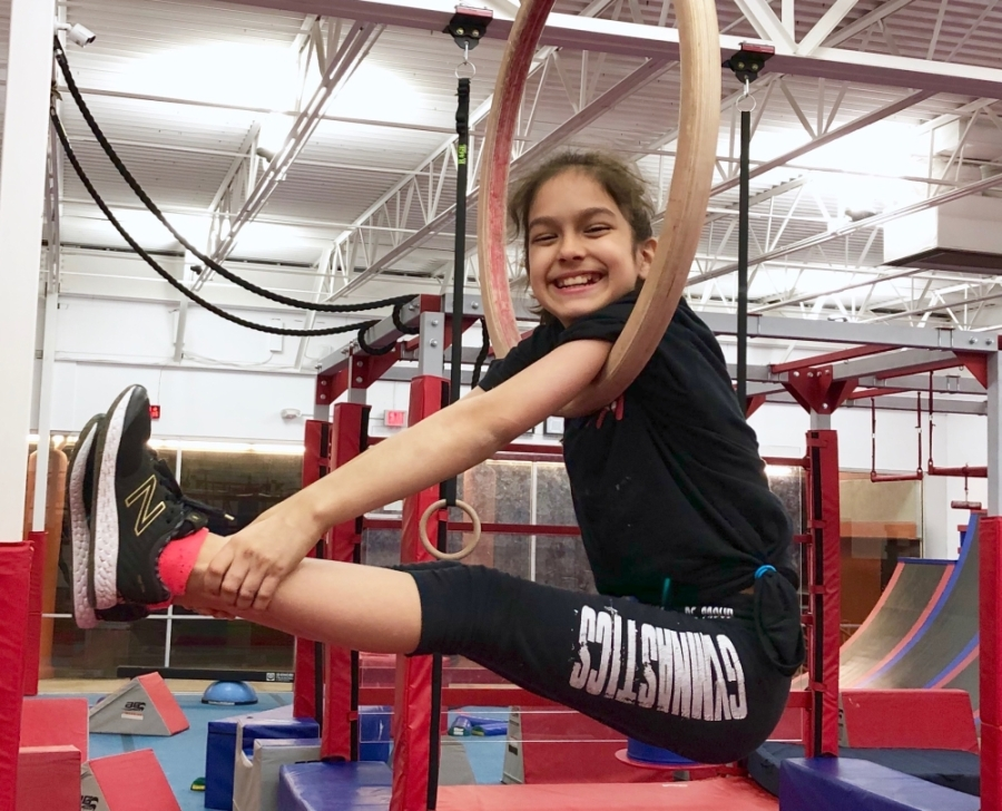 Lexi Vasquez stops for a photo during a training session at Austin Ninjas in Cedar Park. (Courtesy Jennifer Halla)