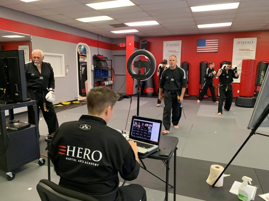 Hero Martial Arts Academy is now offering virtual classes and workshops in compliance with social distancing measures due to the coronavirus pandemic. (Courtesy Hero Martial Arts Academy)