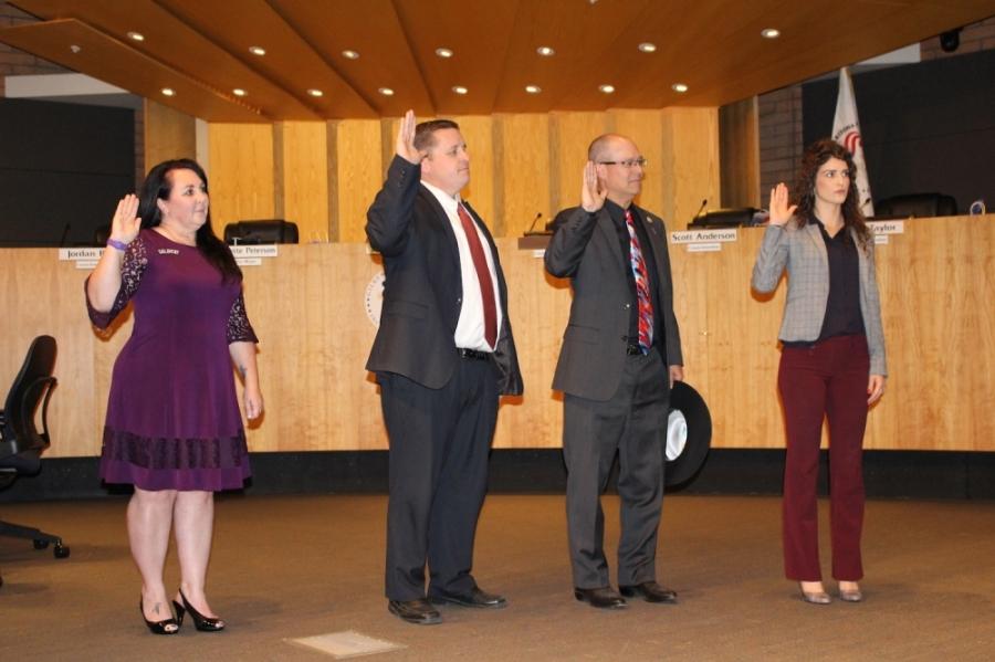 Jordan Ray, Brigette Peterson, Eddie Cook, Aimee Yentes, Gilbert Town Council