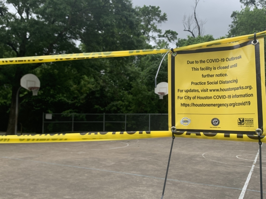 "The ""Stay Home-Work Safe"" order in Harris County also prohibits residents from playing on public playgrounds and using public basketball courts. (Shawn Arrajj/Community Impact Newspaper)"