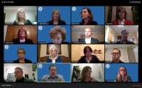 District officials in Richardson ISD brief trustees on the 2021 bond planning schedule at an April 6 board meeting held via Zoom. (Courtesy Zoom)