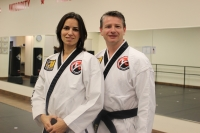 Lucie and Adam Spicar own Reveal Martial Arts, which has two locations in Southlake and one coming soon to Alliance. (Renee Yan/Community Impact Newspaper)