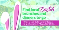 For those looking to support area restaurants while also enjoying Easter dinner, here are eight restaurants offering takeout family meals in Round Rock, Pflugerville and Hutto.