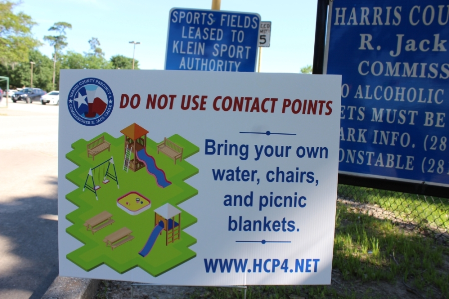 Harris County Judge Lina Hidalgo signed an order April 8 to temporarily close all parks countywide throughout the upcoming Easter weekend, April 10-13, in hopes of discouraging social gatherings. (Hannah Zedaker/Community Impact Newspaper)