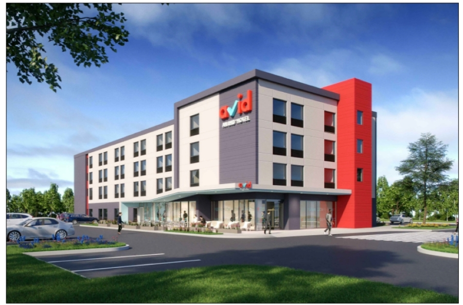 An 89-room Avid Hotel in Round Rock, which was originally slated to open in February, is now expected to open in July, according to Wurzel Builders. (Rendering courtesy Avid Hotels)