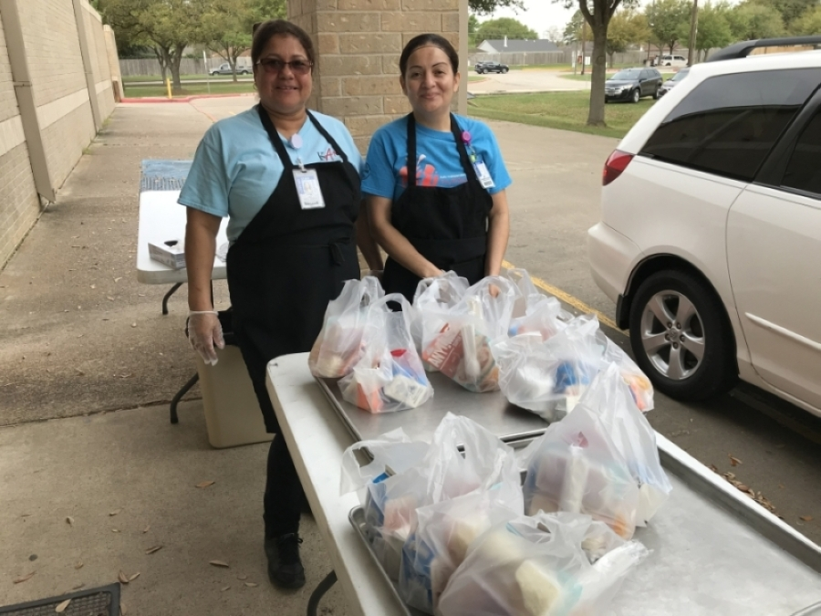 Katy ISD is serving free meals for children at select campuses during its temporary closure due to the COVID-19 pandemic. (Courtesy Katy ISD)