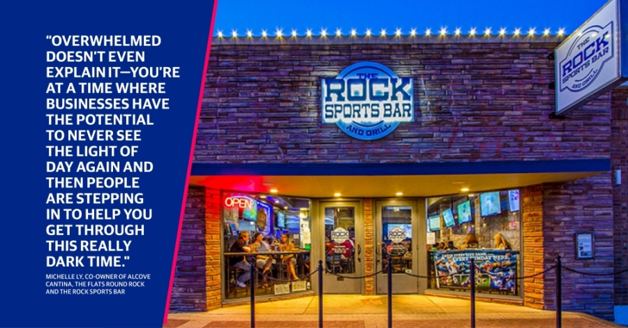 The Flats Round Rock and The Rock Sports Bar were among more than 80 recipients of the Round Rock Cares fund. (Photos courtesy Michelle Ly)