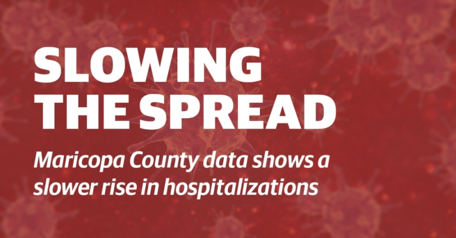 County health officials are seeing a slower rise in hospitalizations. (Graphic by Community Impact Newspaper)