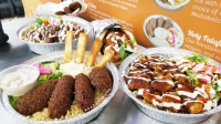 This menu assortment features a variety of foods offered from Zatar. (Courtesy LDWW Group)