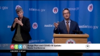 At an April 8 press conference, Dr. Mark Escott, the Austin Public Health interim health authority, said emergency backup medical facilities will open soon in case local hospitals are not able to provide enough space for coronavirus patients. (Courtesy ATXN)