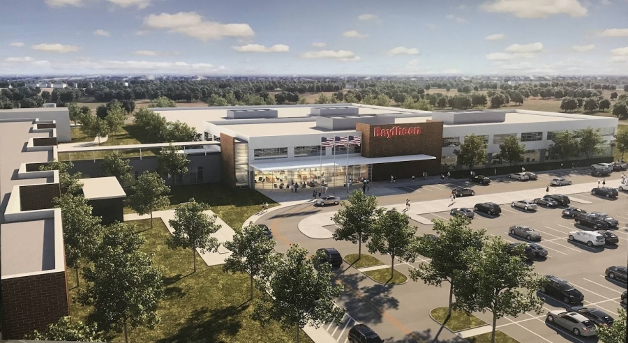 Raytheon Technolodies expects to complete a new facility at its Space and Airborne Systems headquarters in McKinney in late 2020. (Rendering courtesy Raytheon Technologies)