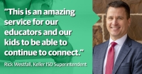 Keller ISD Superintendent Rick Westfall is providing a weekly online reading event for students throughout the district. (Courtesy Keller ISD)