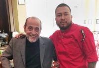 Strumolo's owner, at left, Vinnie Strumolo and Executive Chef Max Santos. (Courtesy Strumolo's)