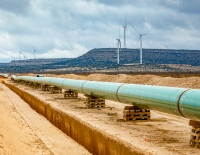 Construction has started on the western end of the Permian Highway Pipeline. (Courtesy Kinder Morgan)
