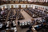 The floor of the house on April 11, 2019. (Miguel Gutierrez Jr./The Texas Tribune)