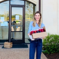 CV Local Juicery and DessertsRx stopped by Colleyville City Hall and the city's Police and Fire Departments to deliver immune-boosting beverages and snacks. (Courtesy CV Local Juicery)