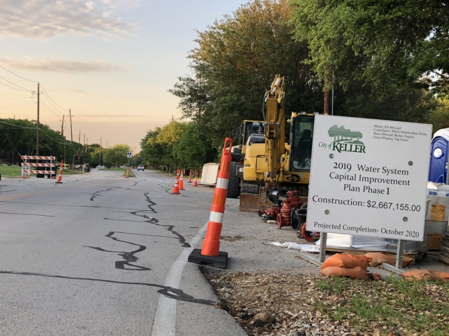 The city of Keller is completing multiple projects along Keller-Smithfield Road. (Ian Pribanic/Community Impact Newspaper)