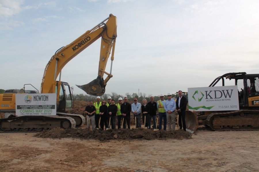 Newton Nurseries broke ground on its new Katy location in March. (Courtesy Kaplan Public Relations)