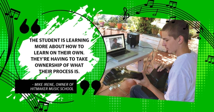 Cedar Park and Leander music schools are adapting to online lessons with new classes and teaching methods. (Photo courtesy HitMaker Music School)