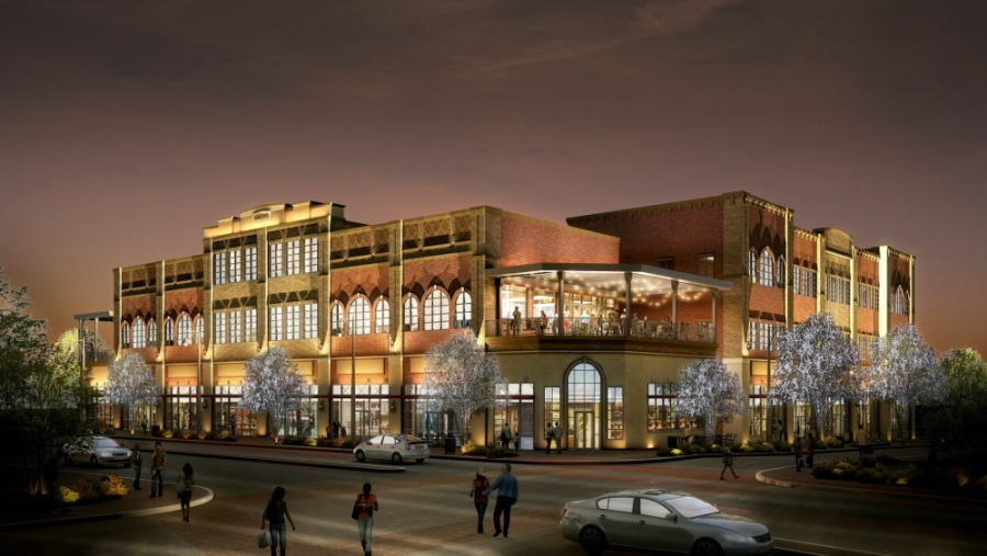 The Patios at the Rail is now expected to be completed in May. (Rendering courtesy Nack Development)