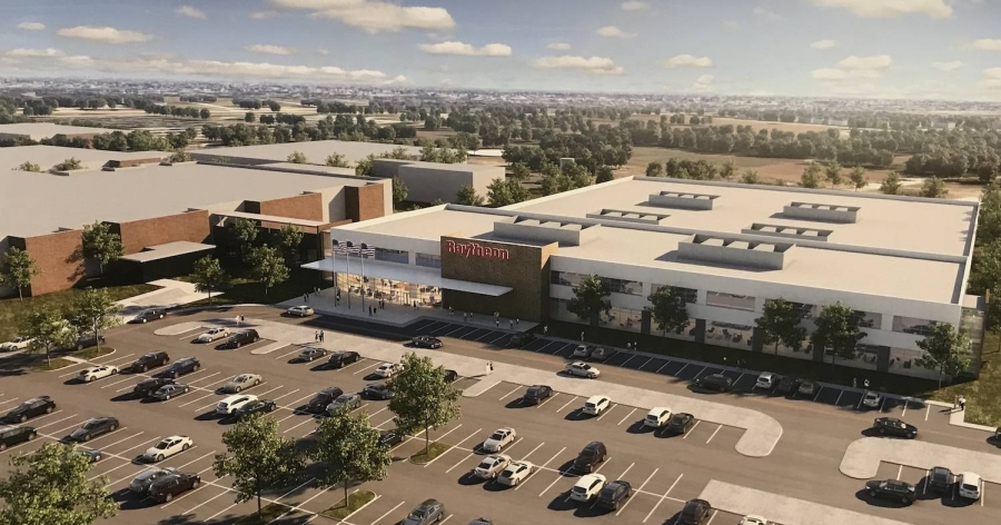 Raytheon will build a new facility at its Space and Airborne Systems headquarters in McKinney. (Rendering courtesy Raytheon)