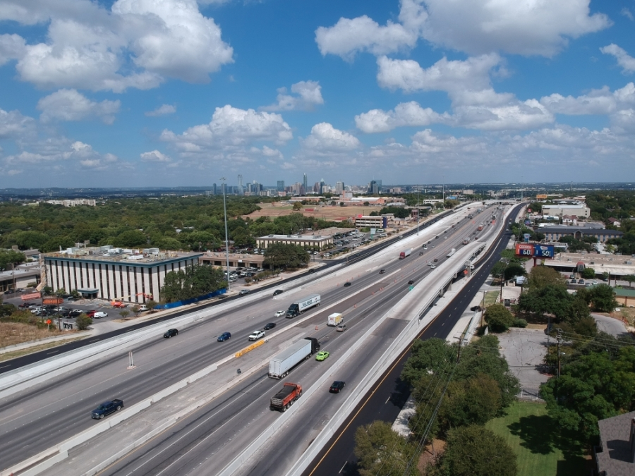New ramps onto I-35 were constructed near Oltorf Street this winter.  (Courtesy Texas Department of Transportation)