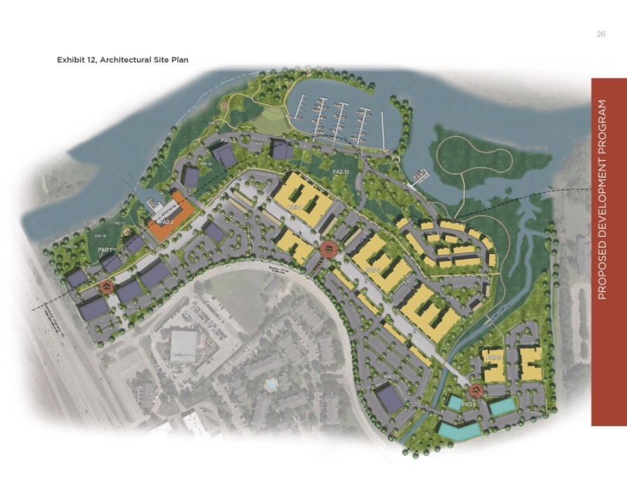The Riverbend at Clear Creek PUD will include a marina, amphitheater, hotel, restaurants and other amenities. (Courtesy city of League City)