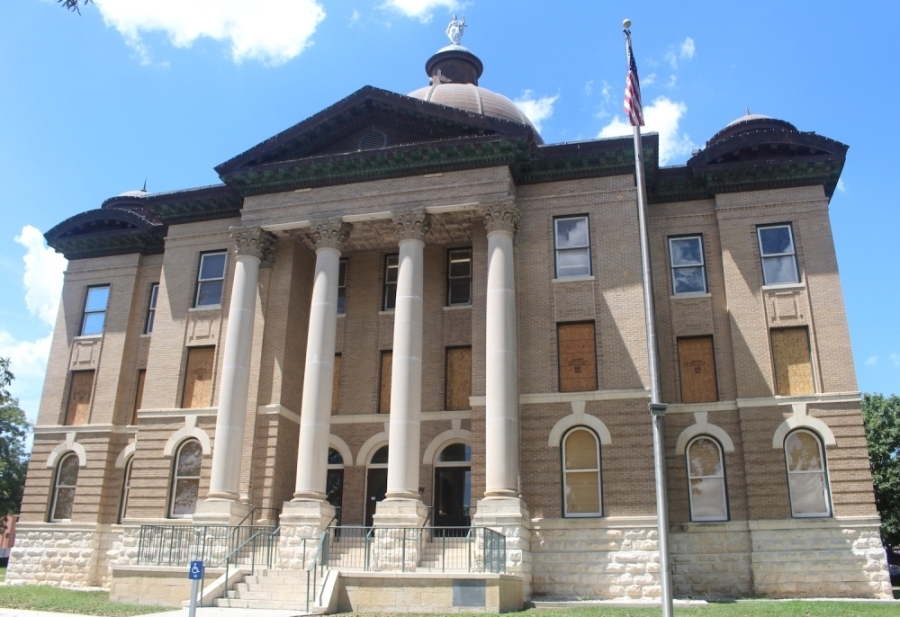 Hays County Commissioners Court members met on April 14. (Community Impact Newspaper Staff)