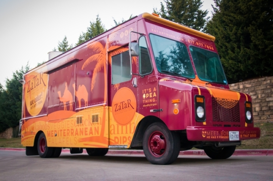 The Zatar food truck will carry items from other Harvest Hall vendors starting this month. (Courtesy LDWW Group)