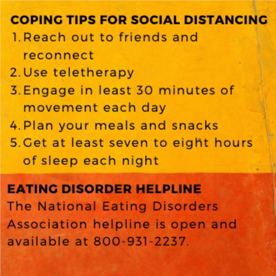 Jill Sechi, practice owner and dietician at Wellness Coaching and Nutrition Therapy in Katy suggest staying connected can help cope with eating disorders.