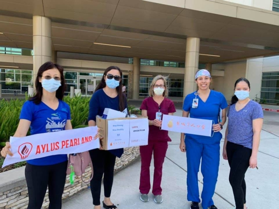 The Pearland Chinese Association and Alliance for Youth Leaders in the United States donated funds and medical supplies to hospitals and first responders in an effort to stop the spread of the coronavirus. (Courtesy Pearland Chinese Association)