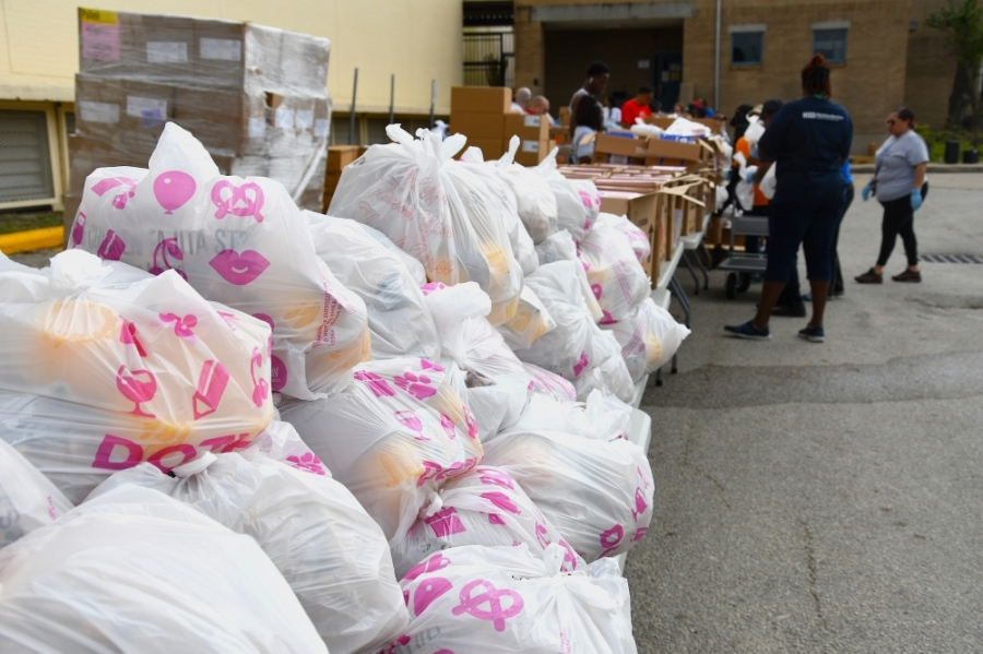 Houston ISD is bringing its food distribution effort to a much bigger venue: NRG Stadium. (Hunter Marrow/Community Impact Newspaper)