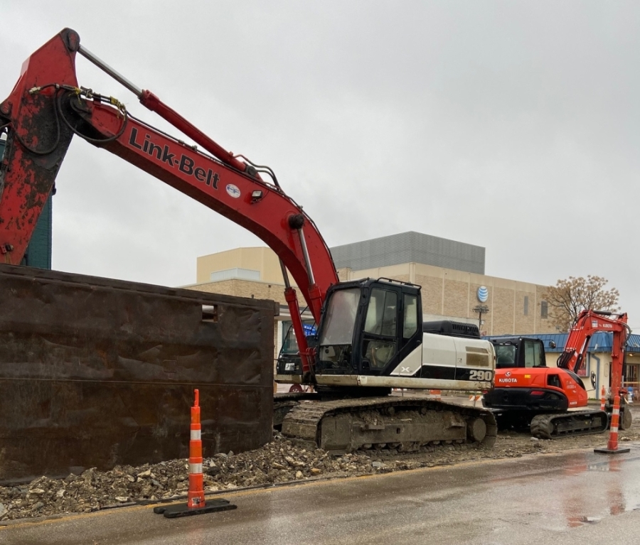 Infrastructure improvements on Main Street are one of several city-led projects still on track despite reports of coronavirus-related worker shortages. (Courtesy city of Richardson)