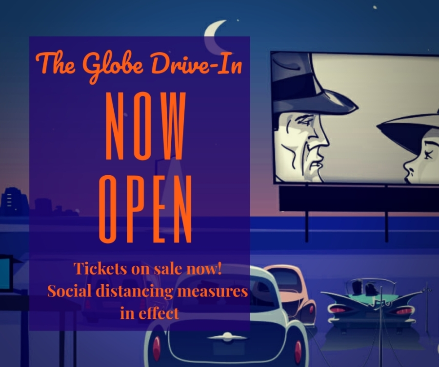 The Globe Drive-In is set to reopen April 24 for social distancing-friendly outdoor movie screenings, owner Brett Williams confirmed April 16. (Courtesy The Globe Drive-In)