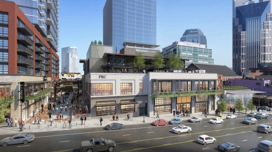 More than 20 retail and dining concepts are planned for the new development in downtown Nashville. (Courtesy Fifth + Broadway)