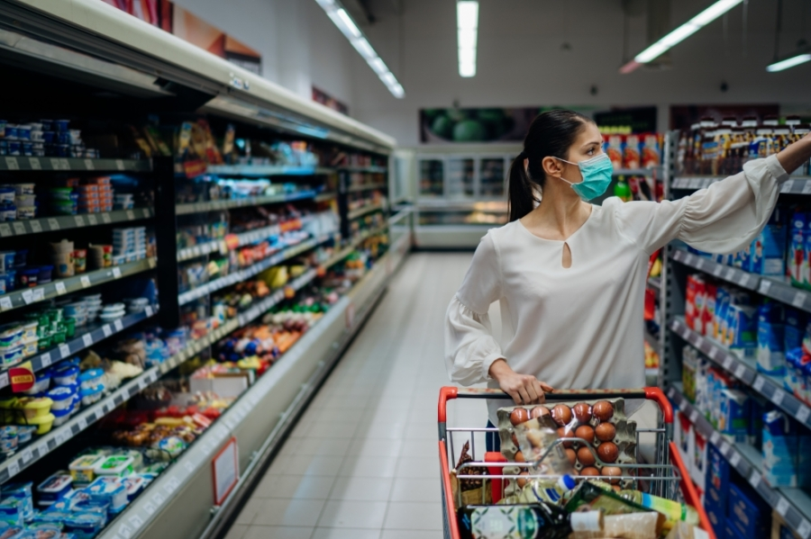 Frisco grocery stores are finding ways to supply the community with groceries while preventing the spread of the coronavirus. (Courtesy Adobe Stock)