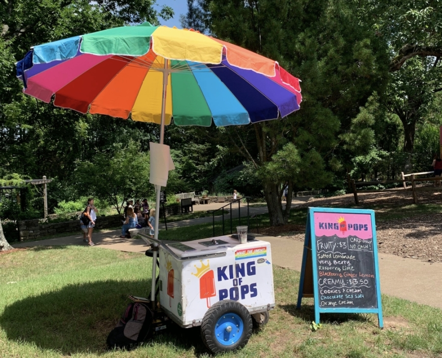 In addition to pop-up sales throughout Nashville, King of Pops operates a cart at Cheekwood Estate and Gardens. (Courtesy King of Pops)