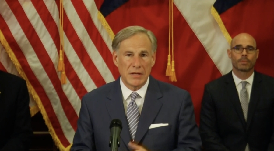 Gov. Greg Abbott announced new guidelines to reopen Texas economy with caution. (Screenshot of April 17 press conference)