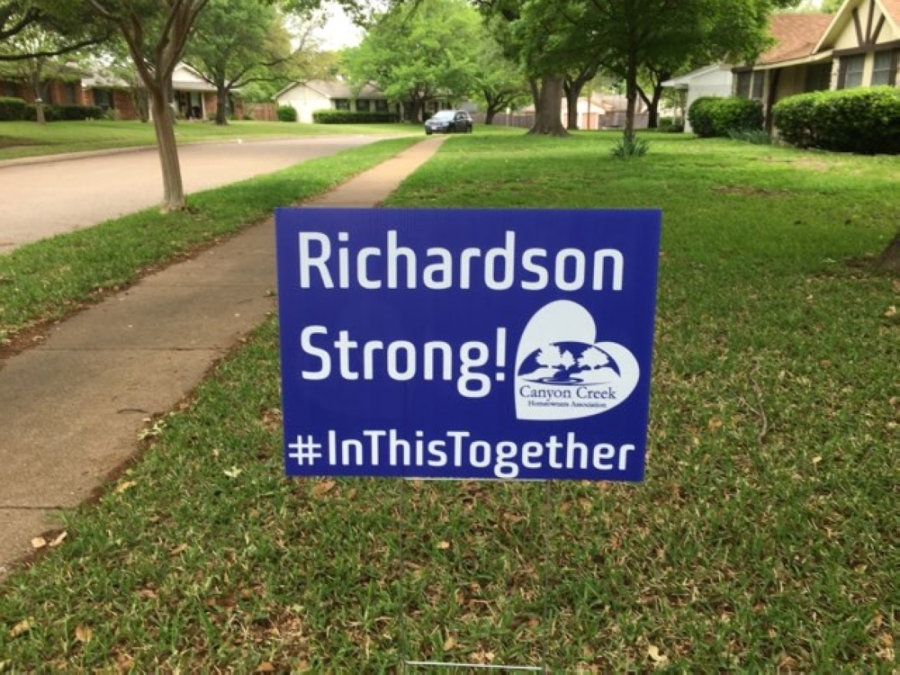 Residents are supporting the Richardson Strong initiative by purchasing signs for their yards. (Courtesy Warren Caldwell)