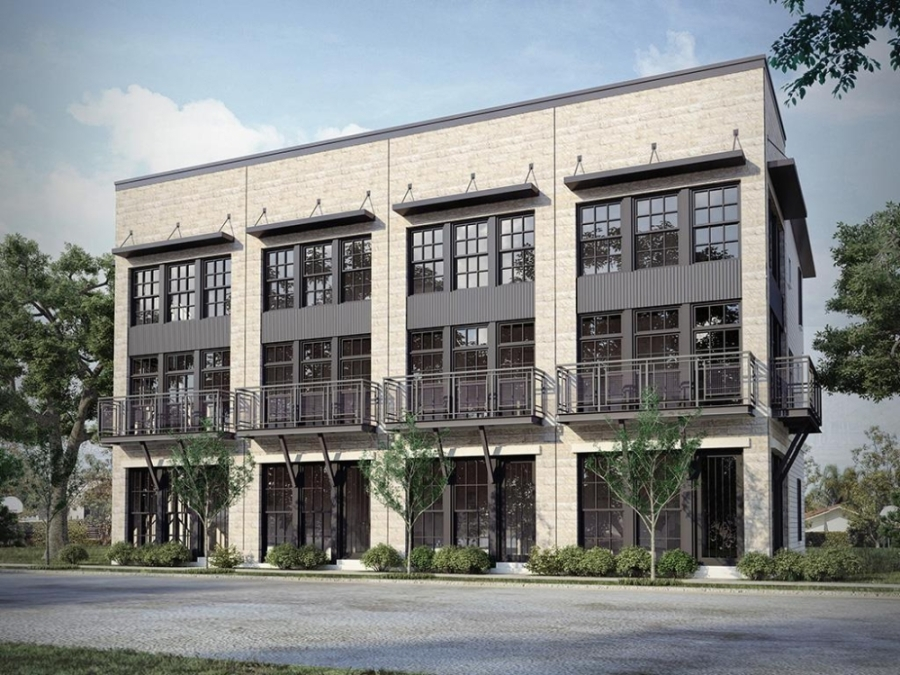 The Depot Townhomes will bring 80 units to a 3.7-acre site near downtown Round Rock. (Rendering courtesy InTown Homes)