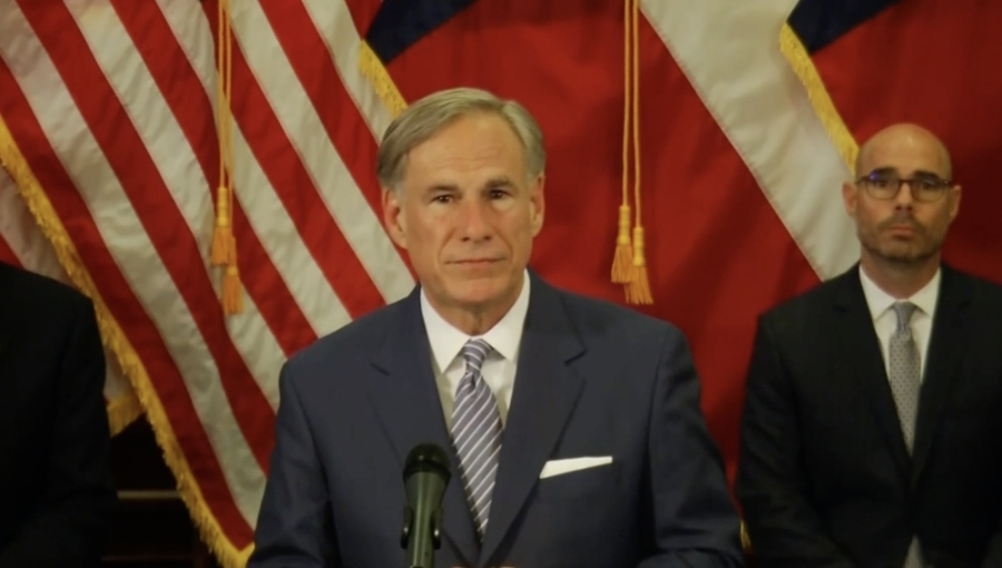Gov. Greg Abbott announced new guidelines to reopen the Texas economy with caution. (Screenshot of April 17 livestream)