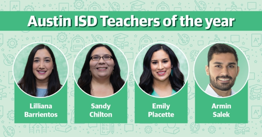 Austin ISD announced its four teacher of the year winners April 17. (Source: Austin ISD/Community Impact Newspaper)