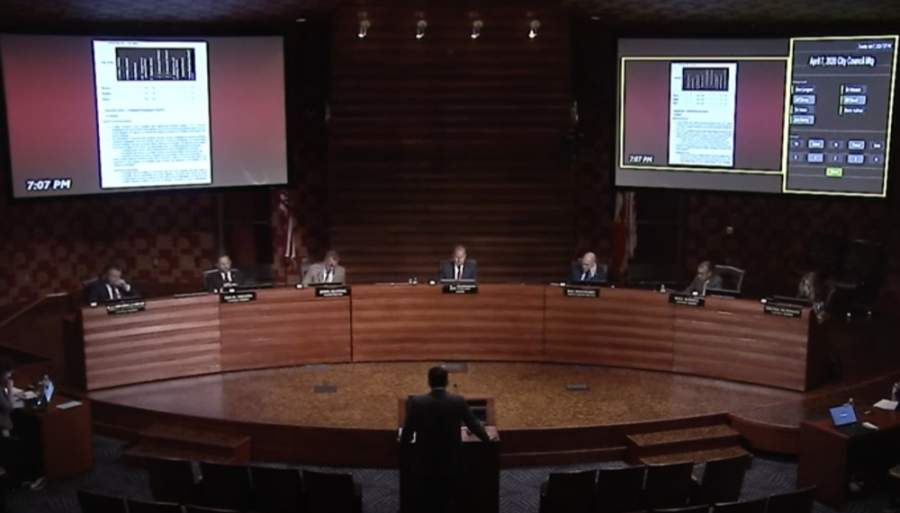 The public can watch the council meeting online as well as participate via telephone or email. In-person attendance is not recommended due to the ongoing coronavirus pandemic. (Screenshot courtesy city of Frisco)