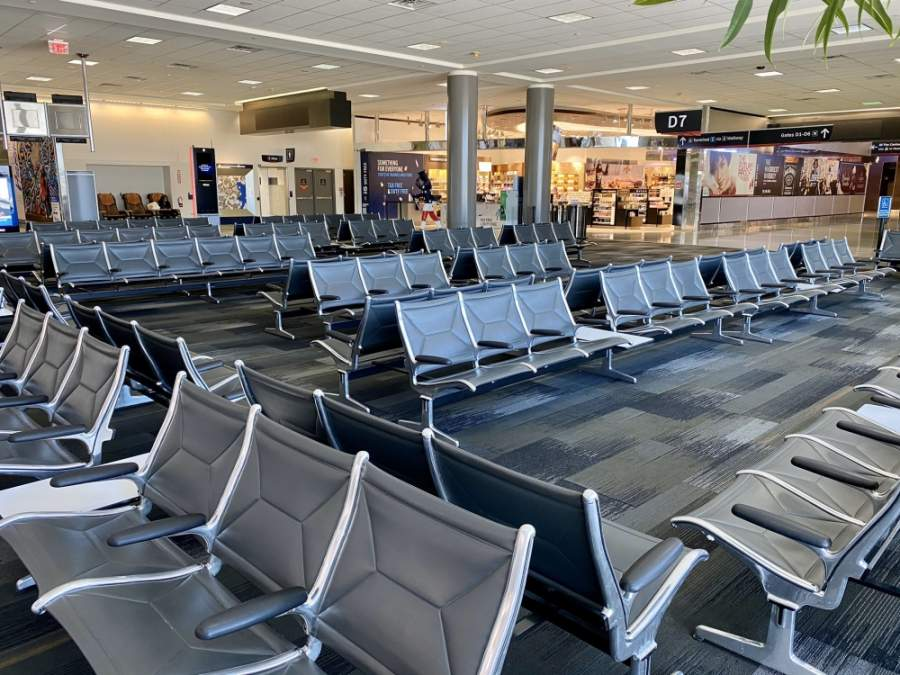 George Bush Intercontinental Airport saw a decrease of 1.36 million passengers between February and March. (Courtesy Houston Airport System Twitter)