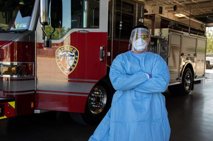 Thanks to a $5,000 grant for personal protective equipment, or PPE, that ExxonMobil pledged April 15, Logan said SFD will be able to replenish its PPE stock, including masks, gloves, surgical gowns and eye protection. (Courtesy Spring Fire Department)