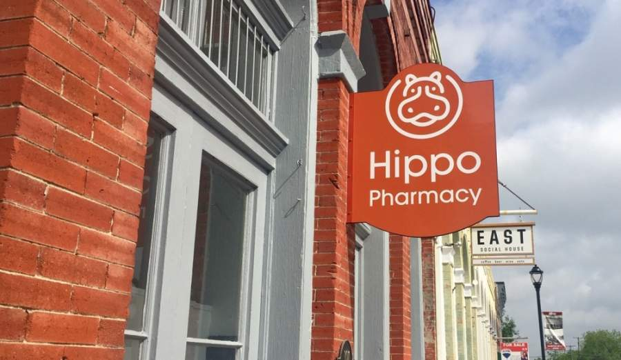 Hippo Pharmacy will open in Hutto near East Social House and Thig's Diamond Kutz. (Taylor Jackson Buchanan/Community Impact Newspaper)