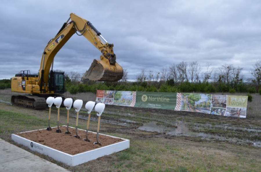 Developer Alex Tynberg said the Northline project has not lost a step since its March 4 groundbreaking. (Taylor Girtman/Community Impact Newspaper)