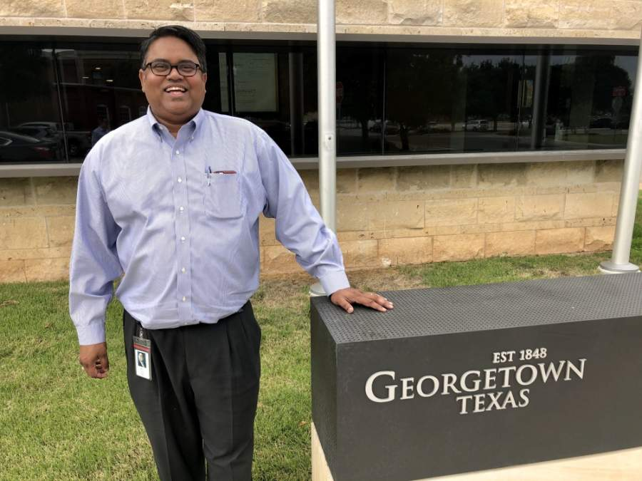 Daniel Bethapudi, the general manager for the city of Georgetown's electric utility, said employee safety is the topmost priority. (Sally Grace Holtgrieve/Community Impact Newspaper