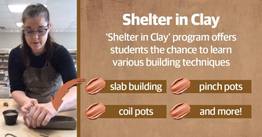Schulz's Twisted Clay Studio has hundreds of pounds of clay stockpiled and a massive electric kiln, to boot. So rather than let her studio sit unused, Schulz kicked off her Shelter in Clay program. (Courtesy Twisted Clay Studio; Ellen Jackson/Community Impact Newspaper)
