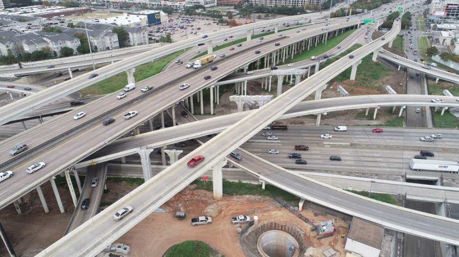 The I-610/I-69 interchange is in the midst of several phases of work, with major closures expected later this year. (Courtesy TxDOT)